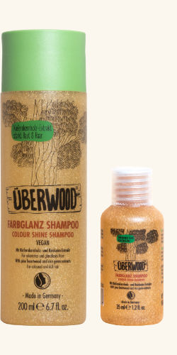 small & big Flacon of ÜBERWOOD® Color Shine Shampoo